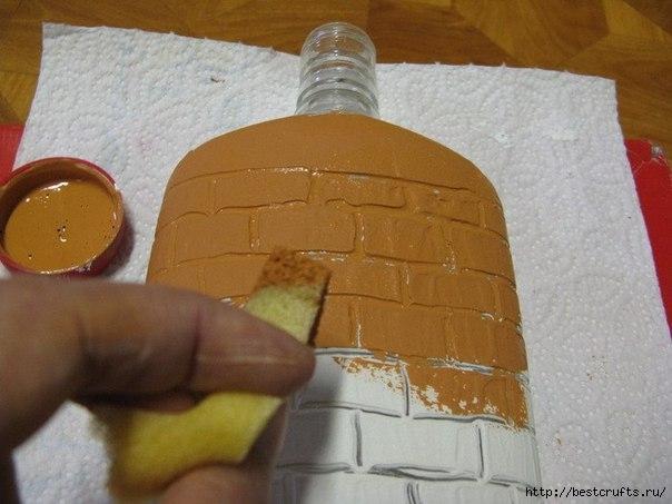 Бутылка с кирпичной кладкой МК (5) (604x453, 134Kb)