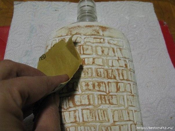Бутылка с кирпичной кладкой МК (7) (604x453, 135Kb)