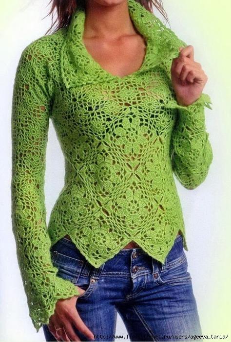 Crochet-Sweater-Pattern-Women häkeln A10 (1) (474x700, 305Kb)