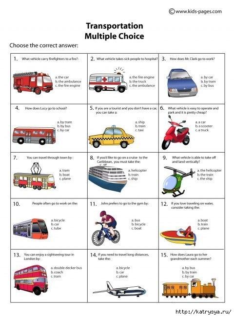 Топик транспорт на английском 114