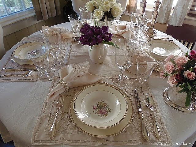 Красивая сервировка и декорирование стола
