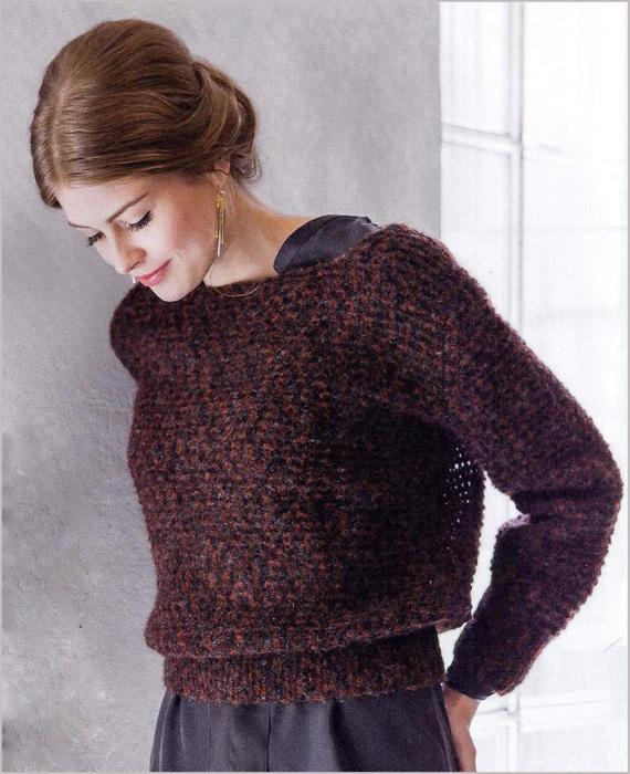 Пуловер короткий