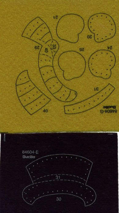 Новогодние подвески из фетра. Шаблоны (2) (389x698, 233Kb)