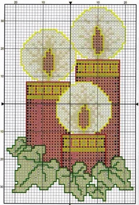 схемы вышивки крестом - Самое