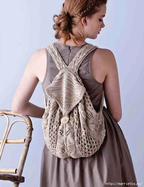 Спортивная сумочка - рюкзак спицами. Схема (1) (470x610, 144Kb)