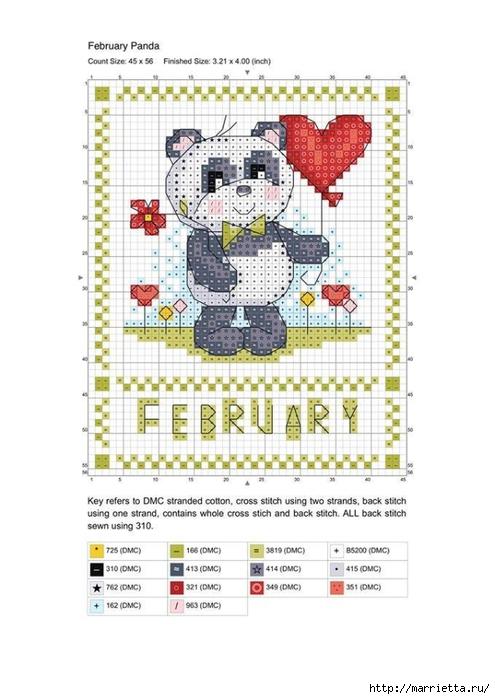 Детский календарь. Схемы вышивки крестом (1) (495x700, 187Kb)