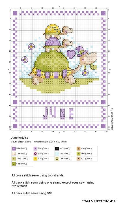 Детский календарь. Схемы вышивки крестом (2) (407x700, 198Kb)
