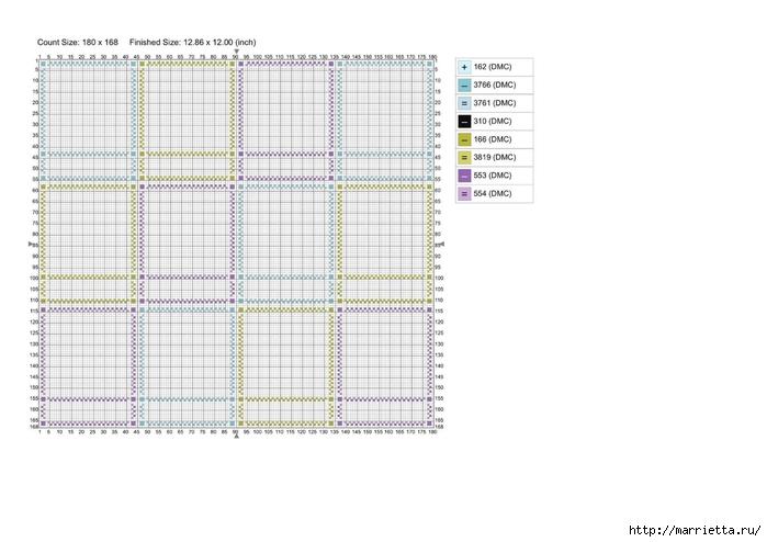 Детский календарь. Схемы вышивки крестом (4) (700x494, 150Kb)