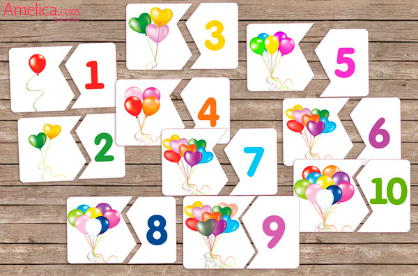 Картинки цифр для детей 1 10