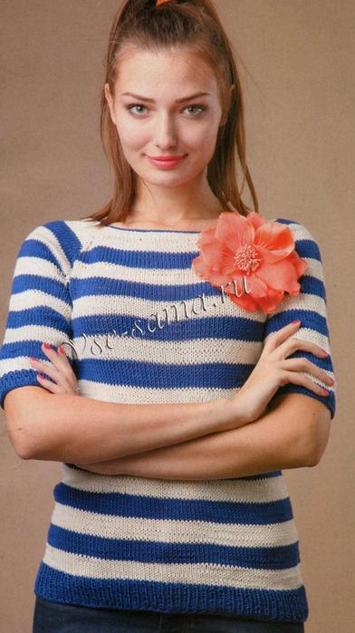 Viazanie-pulovera-spitcami-v-morskom-stile-ris (392x700, 357Kb)