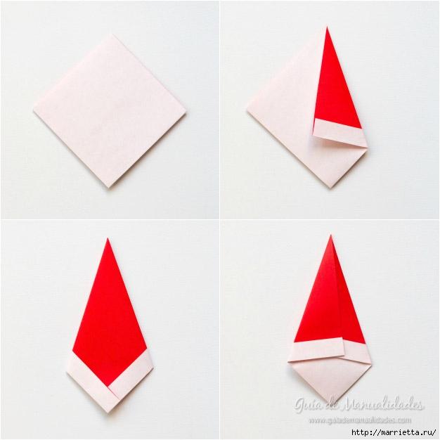Санта Клаус из бумаги в технике оригами (5) (626x626, 118Kb)