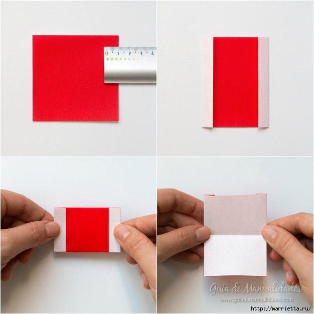 Санта Клаус из бумаги в технике оригами (7) (626x626, 139Kb)