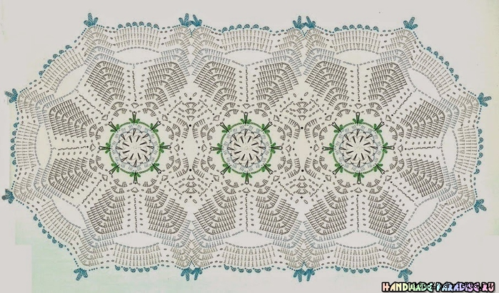 Вязание крючком. Салфетки с розочками (8) (700x411, 290Kb)