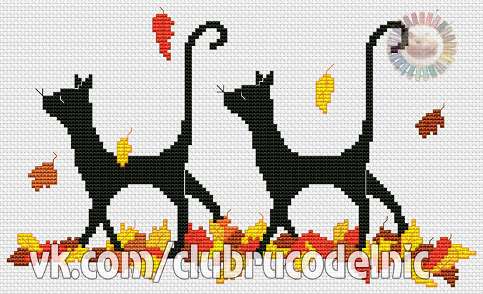 Autumn Cats (700x427, 361Kb)