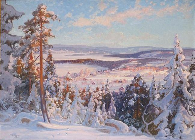 Зимний пейзаж (649x466, 311Kb)