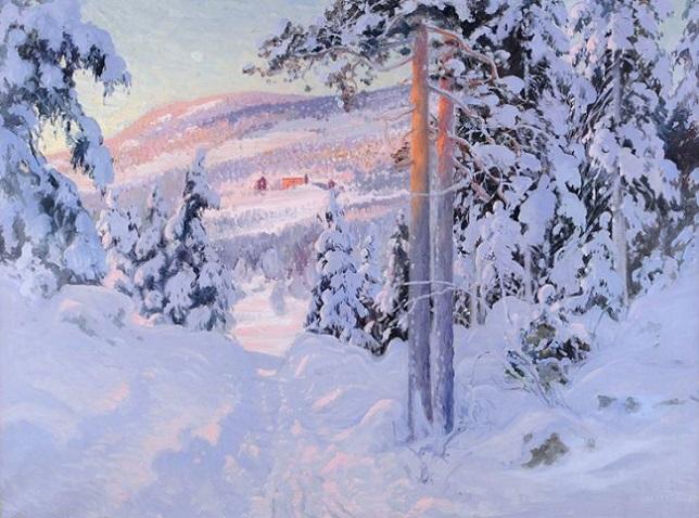 Солнечный зимний пейзаж (644x478, 306Kb)