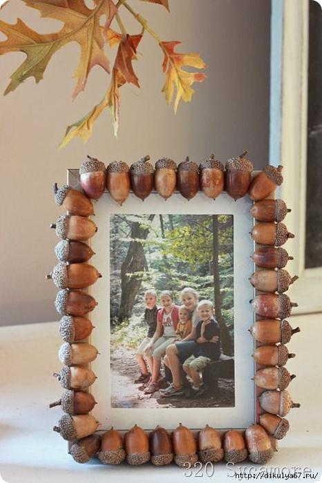 Рамка для фото своими руками из природного материала
