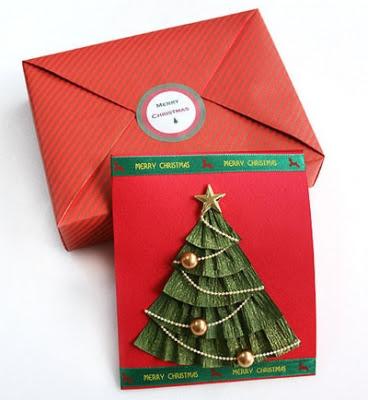 Елочка из бумаги для открытки ручной работы (2) (368x400, 102Kb)