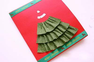 Елочка из бумаги для открытки ручной работы (6) (400x266, 65Kb)