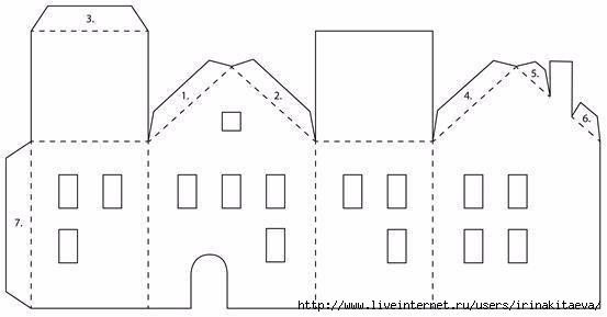 Схема дом из бумаги своими руками для детей схемы