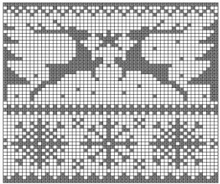 Норвежские жаккардовые узоры спицами - схемы 1 (320x268, 127Kb)