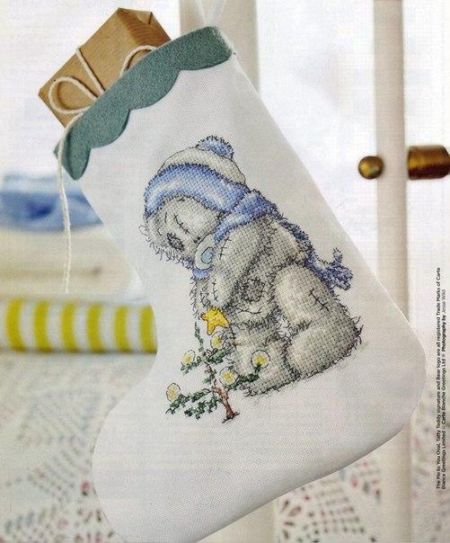 Вышивка для новогоднего сапожка 9
