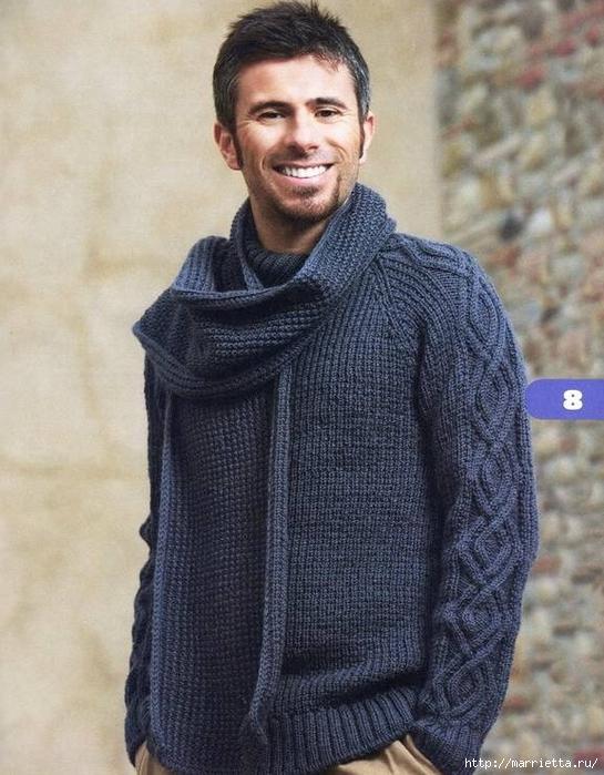 Мужской пуловер двойной резинкой (1) (545x700, 285Kb)