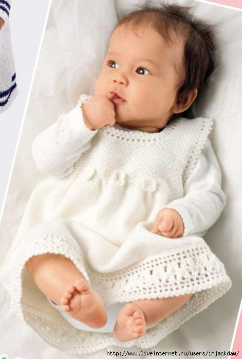Moipetelki вязаное детское платье