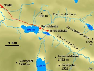 Деревушка в Норвегии возле горы Иннердален1аа (400x300, 117Kb)