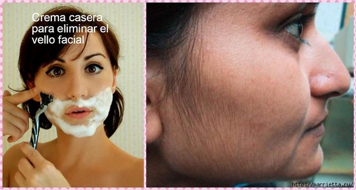 Крем своими руками для удаления волосков на лице (700x374, 190Kb)
