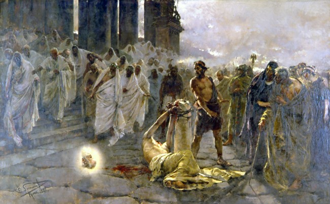The-Beheading-of-Saint-Paul.-Painting-by-Enrique-Simonet-in-1887 (650x401, 96Kb)