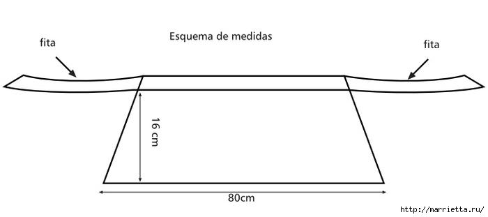 Вязаный воротник из пряжи травка (2) (700x311, 33Kb)