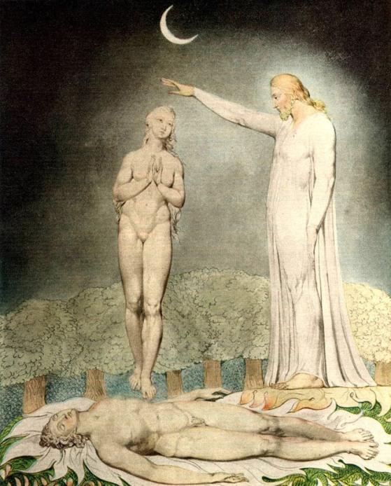 Уильям Блейк. Творение Евы (559x694, 359Kb)
