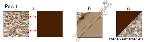 Лоскутная мозаика. Панно ИГРА С УГОЛКАМИ в технике пэчворк (1) (500x144, 47Kb)