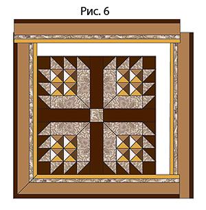 Лоскутная мозаика. Панно ИГРА С УГОЛКАМИ в технике пэчворк (6) (300x306, 112Kb)