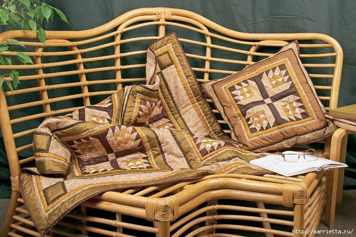 Лоскутная мозаика. Панно ИГРА С УГОЛКАМИ в технике пэчворк (9) (700x466, 307Kb)