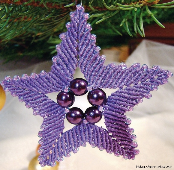 Рождественская звезда. Плетение в технике макраме (15) (580x568, 286Kb)