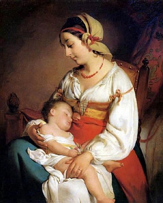 75508789_large_Friedrich_von_Amerling__Austrian_artist_18031887__Mother_Love (560x700, 277Kb)