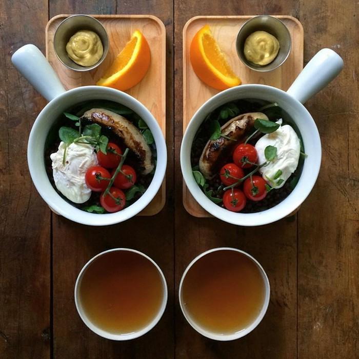 По-настоящему влюбленные пары готовят только симметричные завтраки для своей половинки