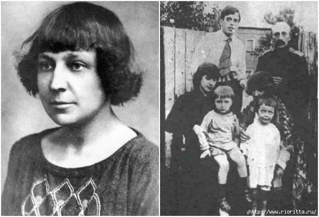 Марина Цветаева; Сестры Цветаевы с детьми и мужьями, Маврикий Минц — справа. (650x441, 142Kb)