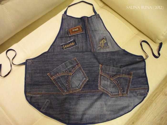 Фартук из старых джинс своими руками
