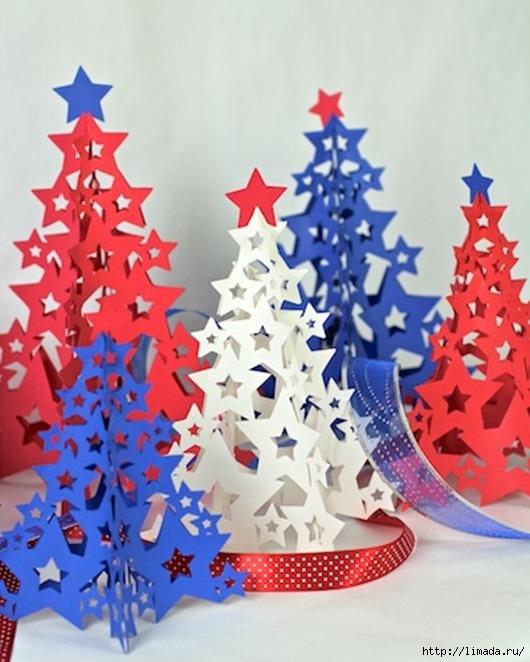 Новогодние елки из картона своими руками
