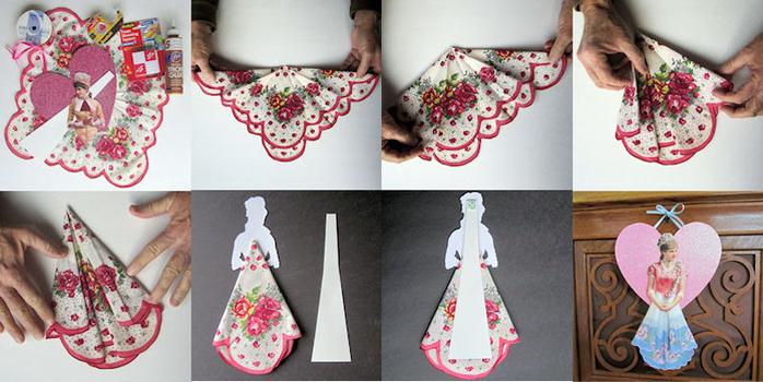 Открытки с платочками своими руками