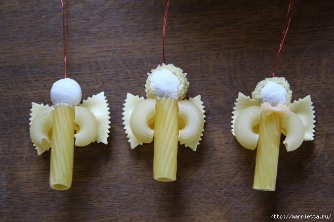 Рождественские ангелы - подвески из макарон (8) (660x440, 128Kb)