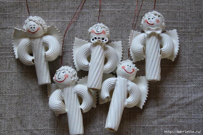 Рождественские ангелы - подвески из макарон (10) (660x440, 168Kb)
