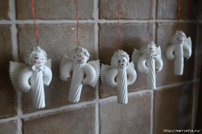 Рождественские ангелы - подвески из макарон (12) (660x440, 116Kb)