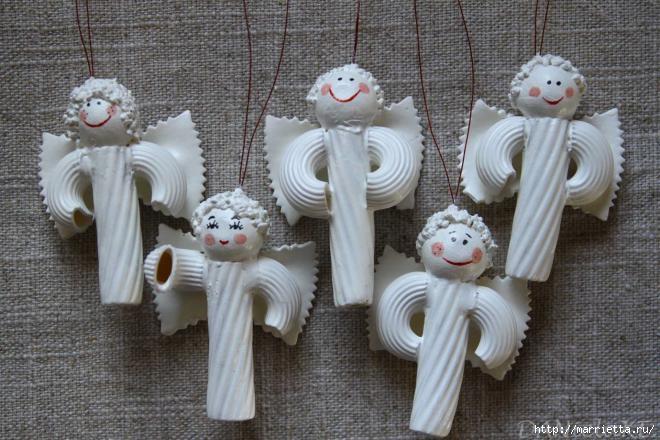 Рождественские ангелы - подвески из макарон (18) (660x440, 177Kb)