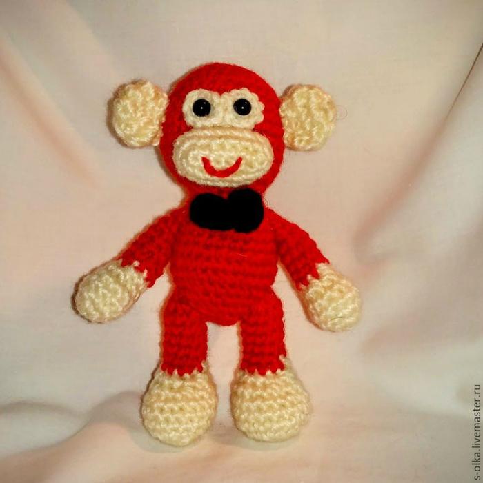 Вязание обезьянки бони 15
