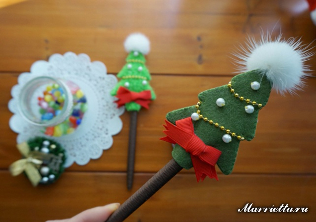 Новогодние сувенирные шариковые ручки своими руками (6) (641x450, 225Kb)