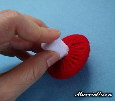 Гриб Мухомор из фетра. Елочная игрушка своими руками (11) (447x391, 127Kb)